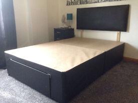 divan bed with mattres