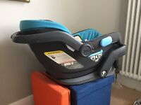 Uppababy MESA car seat with support insert and base - lightly used