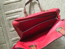 Red ladies bag/hold-all with purse