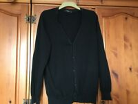 Lovely Smart Black Cardigan Size Large - Only Worn a Few Times