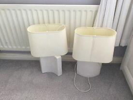 Cream lamps