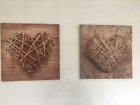 3 wall canvas pictures / prints