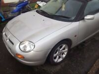 mgf vvc spares or repair, runs and drives