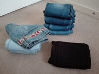 8 pairs of trousers. Very good condition. Size 36.