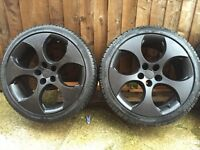 "18"" VW monza alloys. 5x100. Mint tread on tyres"