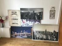 Selection of canvases/art
