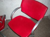 Red Leather Hairdresser Chair