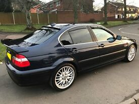 BMW E46 325i 2002 73k miles full leather full service history NO PROBLEMS AT ALL