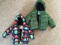 Coats 6-9 months , 9-12months