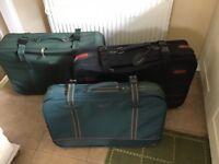 Three suitcases job lot
