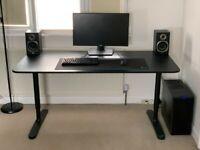 FREE DELIVERY - IKEA BEKANT Black Office Desk 160cm Wide