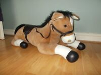 Large Sit-on Horse Toy with reins