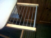IKEA Ironing Board Wooden with Clothes Hanging Rails