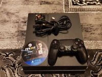 Mat Black PS4 500GB + Genuine Controller + all wires + 1 Game