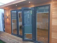 French Door size 150cm x 203cm + 2 side panels size 75cm x 203cm (each)