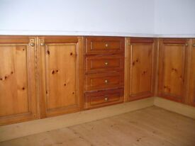 Antique Pine Kitchen units good quality used