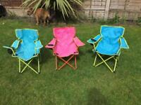 Kids fold up chairs (camping)