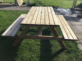 5 ft Picnic Table & Bench Set. New. Flatpack.