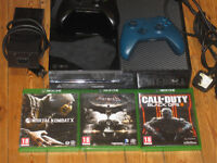 ******XBOX ONE 500GB WITH THREE GAMES SECOND HAND WITH TWO CONTROL PADS****ONLY £210 ONO**