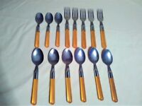 Pre-owned RETRO IKEA DITTO Yellow See-Through FORKS TEA & SOUP SPOONS