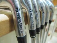 Set of seven used RAC Taylormade righthanded irons. Very good condition.