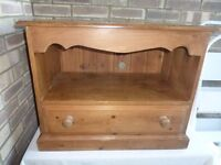 Antique pine tv stand/display stand