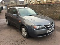 2004 NISSAN ALMERA 1.5 SE 5dr IN LOVELY CONDITION. LOW MILES, SERVICE HISTORY, MOT