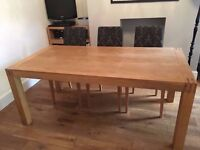 Solid oak dining table, excellent condition, seats 8 people