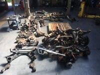BREAKING PARTS SPARES - BMW E34 E36 E38 E46 E53 X5 Z3 M3 suspension hubs arms racks radiators shafts