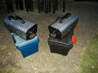 Two matching smoke machines (hardly used)