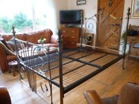 Lovely Antique Brass Double Bed