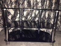 Next Black Glass TV Unit - Excellent condition
