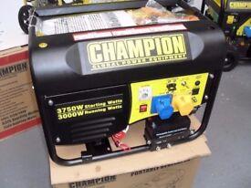 NEW CHAMPION ELECTRIC START GENERATORS, 3500WATTS , AVR PROTECTED , BALLYNAHINCH .
