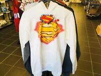 SUPERMAN KIDS JUMPER SIZE XL NEW WHITE