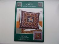 'Elephant' counted cross stitch cushion or panel kit by The Craft Collection