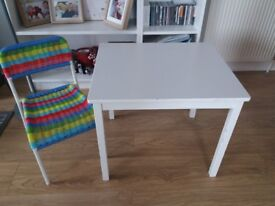 Ikea children table + chair