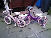 2no small bicycles.
