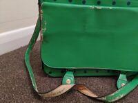 Green Polkadot Handbag Satchel