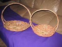 Two Brand New Matching Wickerwork Flower Baskets - 2 for £5.00