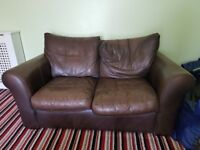 2 leather sofas. One 3 seater and one 2 seater.