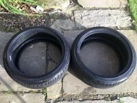 Bridgestone Potenza 225/40/18 run flat tyres.
