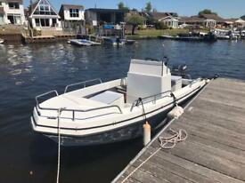 Outhill 17ft flying fox boat yamaha 90hp