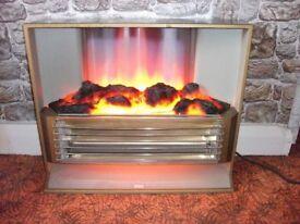 SUNHOUSE ELECTRIC GLOWING COAL FIRE RETRO 1960