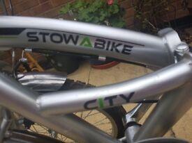 Stow way bike, folding bike, commuter