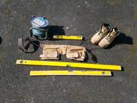 TOOLS - Spirit levels - pouch - boots - 25m extension lead