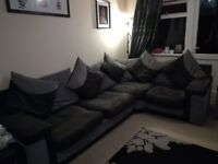 Corner sofa large 2 seater and media chair for sale