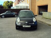 NISSAN MICRA 1.2 16v SPIRITA 3DR BLACK LOW MILEAGE AIR CON CD PLAYER MOT FOR £1595