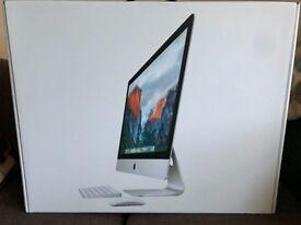 "Apple iMac 27"" 5k, late 2015, 3.2GHz, 8GB, 1TB hdd, box, magic keyboard, magic trackpad."
