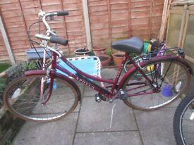 Vintage Ladies Apollo Town Bicycle, Shopping Bike Cheap Student