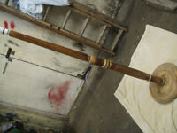 vintage solid wood standard lamp ,working order ideal for shabby chic project